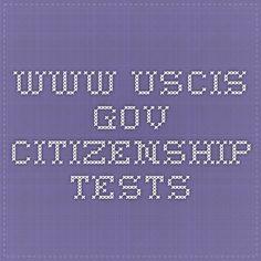 www.uscis.gov Citizenship tests