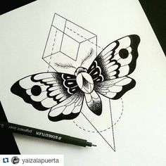 Dotwork by @yaizalapuerta  Dotwork... #tattoo #design #illustration #moth #insect #geometry #dots #dotwork #black #ink #lines #inked #tattooed #flash #tattooflash #sketch #sketchbook #art #artist #artwork #tattooartist #geometric #work #tattoos #worldofartists #support #tattoolife