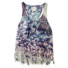 Fringed Hem Tank Feather now featured on Fab.