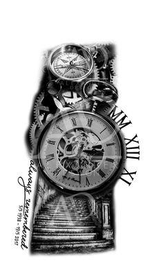 ArtStation - sleeve tattoo design, Alexander Design