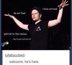 Welcome. He's here.