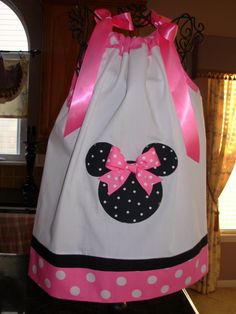 Minnie Mouse Pillowcase Dress Pink and White by STLGIRL on Etsy, $20.00