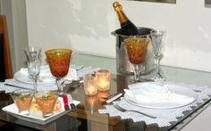 Minha mesa posta em comemoração ao amor
