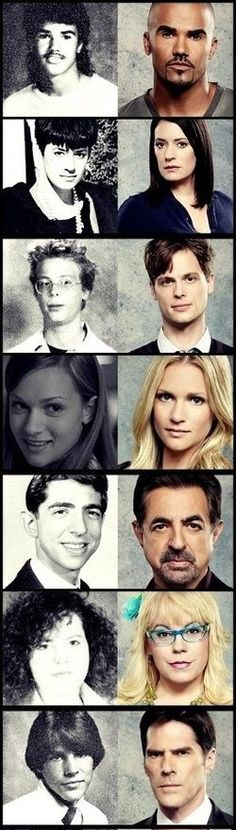 before and now pics of Criminal MInds folks.