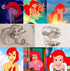 Keane has many times said that his biggest inspiration to draw Ariel was his wife. He basically represented in the redhead the passion and beauty his companion has inspired him through all their life together.