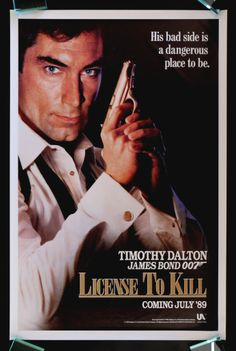 """Timothy Dalton makes his final appearance as James Bond """"007"""" in License To Kill. #Bond50"""