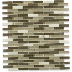 "Melay Glass Laguna 1"" x 4"" Glass Mosaic Tile & Reviews   Wayfair Bath Tiles, Glass Mosaic Tiles, Green Tile Backsplash, Tiles For Sale, Glass Brick, Ceramic Subway Tile, Tile Saw, Glass Installation, Glass Material"