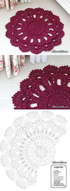 62 Best Ideas For Crochet Mandala Rug Diagram Crochet Doily Rug, Crochet Doily Diagram, Crochet Carpet, Crochet Mandala Pattern, Crochet Doily Patterns, Crochet Tablecloth, Mode Crochet, Crochet Home, Irish Crochet