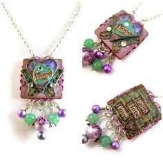 Janet Wilson -Inspirational Butterfly and Heart Necklace - Hope