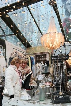 Bryant Park Winter Village shops
