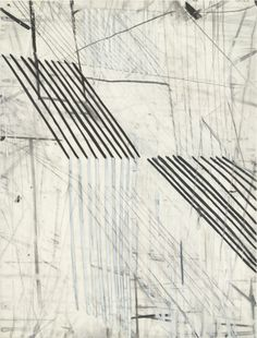 "Eve Aschheim, Stretch (1998), Gesso, crayon, and pencil on synthetic polymer sheet, 12 x 9"" (30.5 x 22.9 cm)"