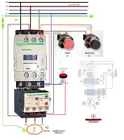 Esquemas eléctricos: COMO CONECTAR UN CONTACTOR RELE TERMICO CON PULSAD...