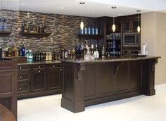 Image result for basement kitchen bar ideas