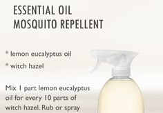 DIY homemade Natural, nontoxic insect, bug and mosquito repellent