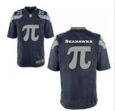 Seattle Seahawks Customized Game Team Color Jersey PI Seattle Seahawks  Customized Game Team Color Jersey PI With a π on front and back. 6d501a199