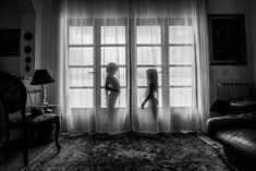 """HONORABLE MENTION - """"Laura and Oskar"""" by Anna Sas Milewska, Poland B&W CHILD PHOTO CONTEST 2019 RESULTS – 2nd HALF – B&W CHILD PHOTO COMPETITION  #photocompetition #photocontest #childphotographer"""