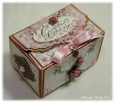 Wenches Cards and Paper: Bowl-box Tutorial! 3d Paper Crafts, Diy Paper, Paper Crafting, Paper Box Tutorial, Pretty Box, Craft Box, Card Tutorials, Diy Box, Cardmaking