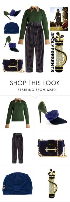 """""""#PolyPresents: Fancy Pants"""" by ellenfischerbeauty ❤ liked on Polyvore featuring Muveil, Marco de Vincenzo, Isa Arfen, Prada, Fendi, contestentry and polyPresents"""