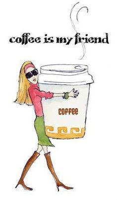 Coffee girl by monicalee. #coffee #friend