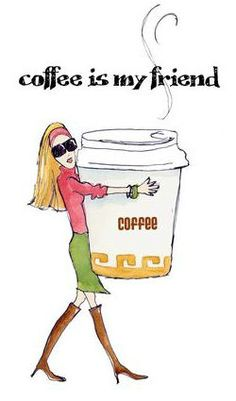 Coffee girl by monicalee. #coffee #friend
