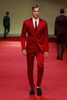 """Dolce  Gabbana"" ..""Man Catwalk Photo Gallery"" .. Fashion Show Summer 2015 .. ""I'm All In Red"" .. ""Walking Tough In ""CLASS"" ..  And I'm Un--Believable ..."