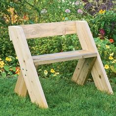 DIY project: Build a Leopold Bench. When the famed conservationist Aldo Leopold wanted a place to sit, he built himself a simple bench with timeless appeal. The bench is easy to replicate, so it makes a good garden project for those with little carpentry experience. | Video and tutorial from Organic Gardening