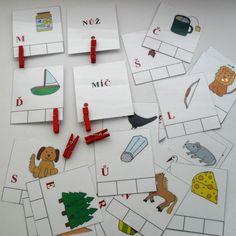 písmenka, slova, doplňování písmenek, čeština, písmena