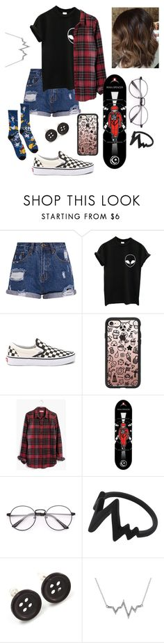 """Nice board"" by urielectric ❤ liked on Polyvore featuring Vans, Casetify, Madewell, Avalaya and Allura"