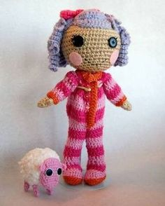 Lalaloopsy Dolls crochet pattern. Greta would be in LOVE!!! Maybe I need to add 'learn to crochet' to my TO DO list. :) Maybe someday...
