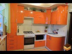 Дизайн маленькой кухни. 16 идей кухни для хрущевки. Фото кухонных гарнитуров. - YouTube Kitchen Cupboard Designs, Kitchen Room Design, Kitchen Sets, Kitchen Cupboards, Modern Kitchen Design, Kitchen Layout, Small Modern Kitchens, Modern Tiny House, Cool Kitchens