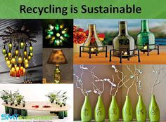 Glass recycling is a very simple and easy process. And more than of the new glass bottles in the store are made up of recycled glass materials. But unfortunately, not all glass bottles are given away to the recycling centers. Recycled Bottles, Recycled Glass, Wine Bottles, Glass Bottles, Recycling Services, Recycling Center, Glass Material, Bottle Crafts, Reuse