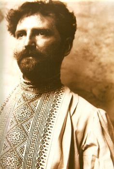 Alphonse Mucha, psychedelically dressed to match his own psychedelesque art nouveau masterpieces.