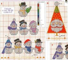 Snowmen patterns.