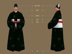 Goryeo Dynasty(AD918-1392) Korean traditional clothes #hanbok 일본 서복사 소장, 관경서분변상도(觀經序分變相圖)근거, 시종(侍從)복식 - 문화콘텐츠닷컴