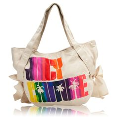Juicy Couture Rainbow Canvas Bow Tote #VonMaur