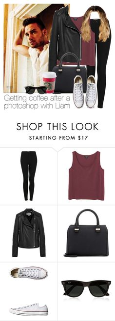 """""""Getting coffee after a photoshop with Liam"""" by style-with-one-direction ❤ liked on Polyvore featuring Payne, Topshop, Monki, Mulberry, Victoria Beckham, Converse, Ray-Ban, OneDirection, LiamPayne and 1d"""