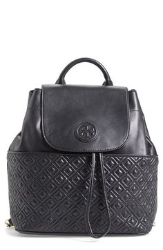 Tory+Burch+'Marion'+Quilted+Lambskin+Backpack+available+at+#Nordstrom