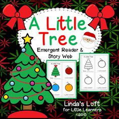 """Reinforce color identification and color word recognition with this cute emergent reader """"A Little Tree."""" Children can read and color the booklet in small groups, at a center, or for independent work. Visit my site for a preview and complete product description.  $"""