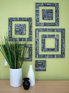 This is a DIY wall decor.  It is art foam (from any local arts and crafts store) with a textured, decorative paper glued on top.  Use an X-acto knife to cut shapes, and mount the light weight art on your walls :)