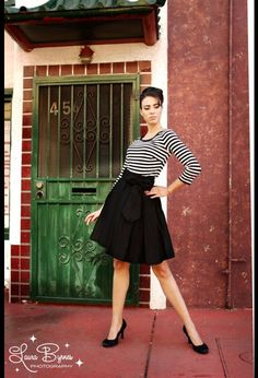 The Audrey Skirt in Black by Pinup Couture