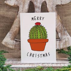 Personalised Cactus Christmas Card