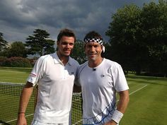 Pat Cash and Stanislas Wawrinka.  #tennis #tennisplayer #patcash #sport