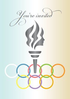 Olympic Party Invitations | kb jpeg olympic party invitation olympics birthday invitation digial ...