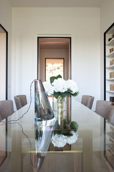 Dining room in Pierre Yovanovitch's Seventh Arrondissement Paris apartment.