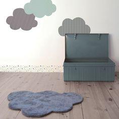 Grey cloud rug