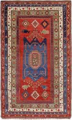 """Schuler Auktionen Zürich  Lambalo-Kazak O-Kaukasus, datiert mit """"1345"""" = 1927  160x260 cm (ft. 5.3x8.6)."""
