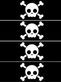 - Oh My Fiesta! in english Pirate Boy, Pirate Theme, Free Printable Banner, Free Printables, Comic Party, Beatles Party, Kids Party Decorations, Pirate Birthday, Skulls