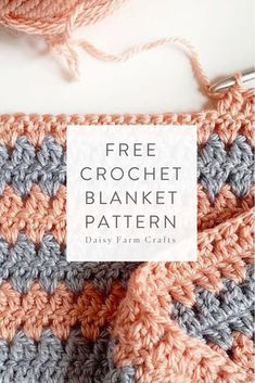This latest pattern is me experimenting with my original modern granny pattern, and eliminating one DC to… Crochet Granny, Baby Blanket Crochet, Easy Crochet, Crochet Baby, Free Crochet, Knit Crochet, Afghan Crochet, Baby Afghans, Crochet Blankets