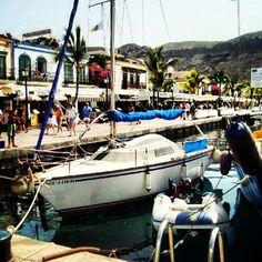 #Mogan #grancanaria #boat #port #summer - @sayarit- #webstagram