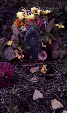 Fairy home ♥  every little girl should have her own tiny...Fairy house outside!  isn't it adorable?